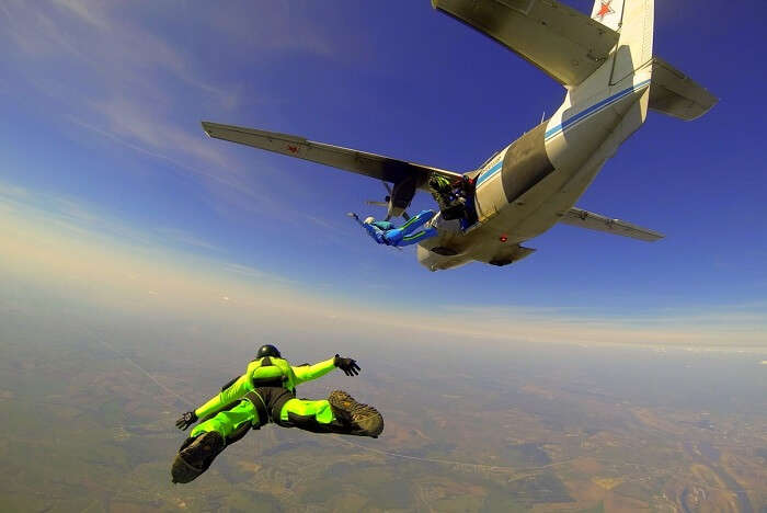 Skydiving in Fiji