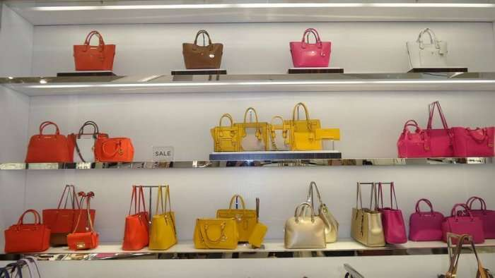 luxury bags in mall