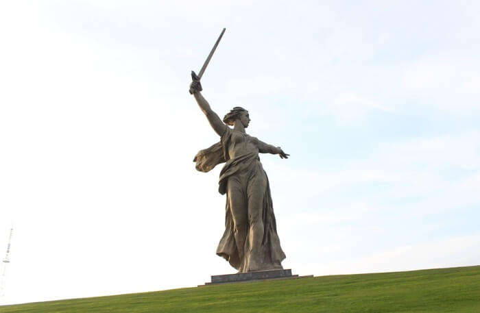 Monument Mother Motherland Volgograd View