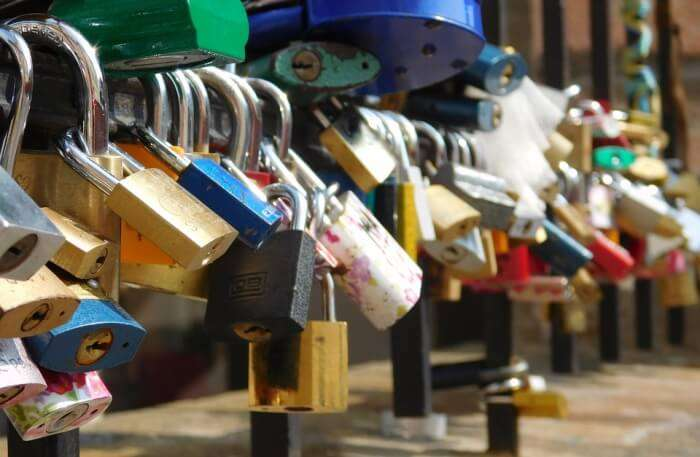 Bridge Padlock Love Symbol