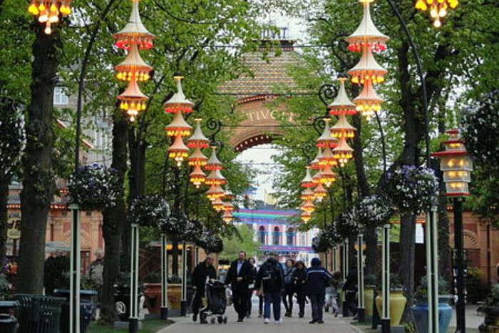 Tivoli Gardens in Copenhagen