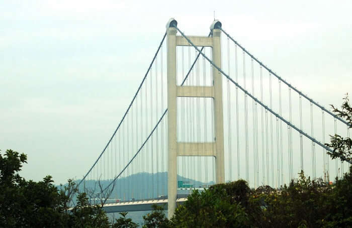 Tsing Ma Bridge Construction