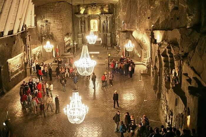 inside view of the salt mine