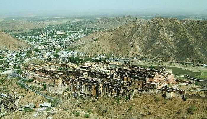 aerial view of jaipur