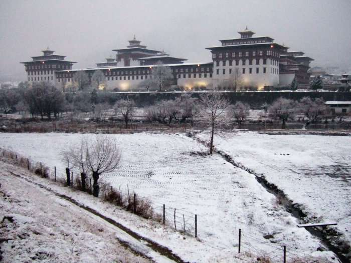 Thimphu during winter