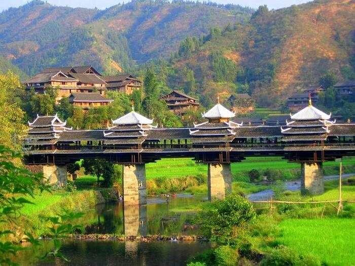 The view of Chengyang bridge