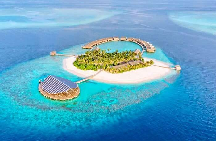 view of private luxury island in maldives