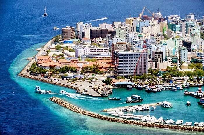 aerial view of male city
