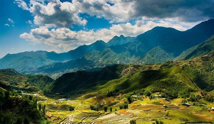 Sapa town in Vietnam