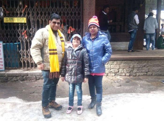seeking blessings at the Hadimba Temple