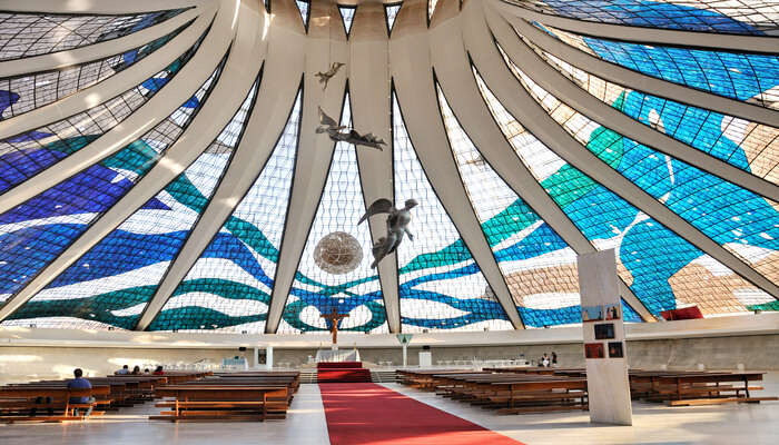 Admire the architectural marvels of Brasilia