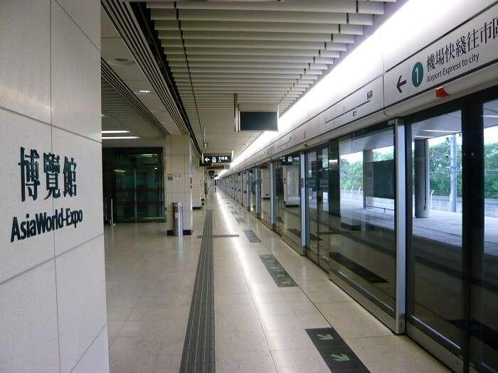 Train in Hong Kong