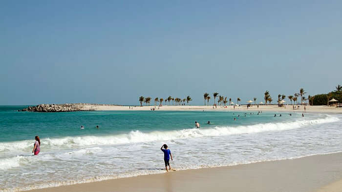 Al Mamzar Beach in Sharjah