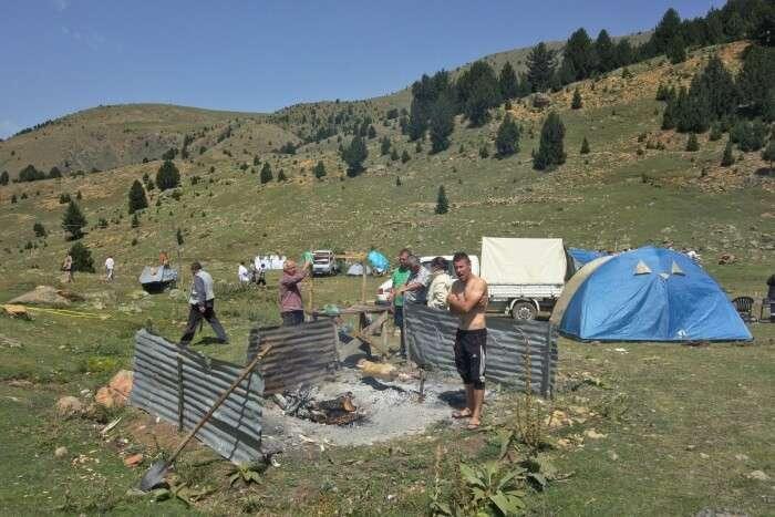 Camping At Albania