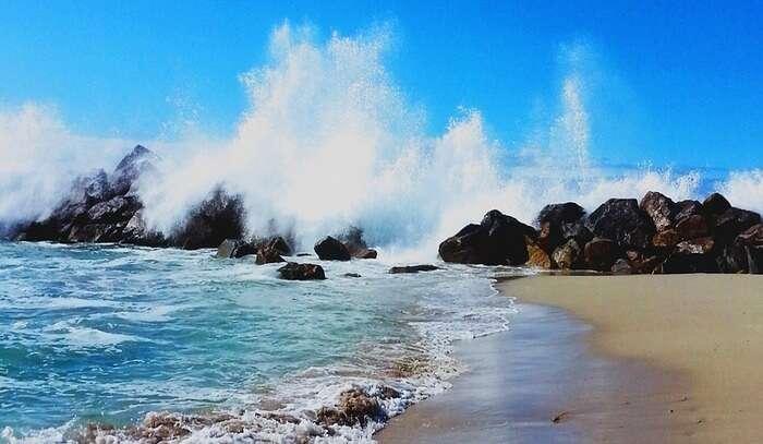 Spain Breakwater Costa Beach Lugo Galicia Sea