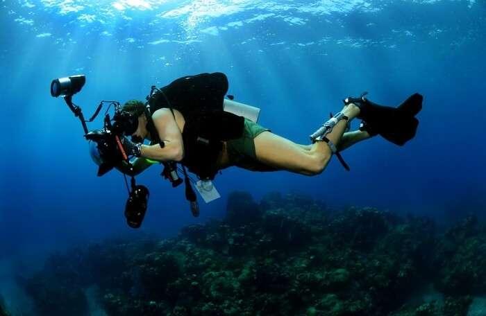 Underwater Photographer Military Scuba Diving