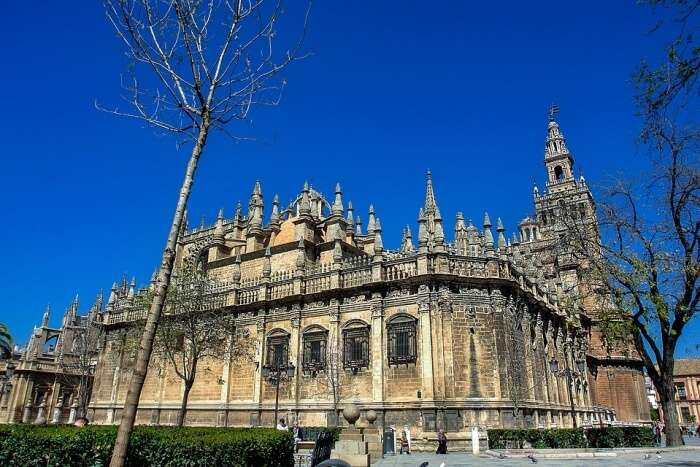 Spain Giralda Monuments Seville Cathedral