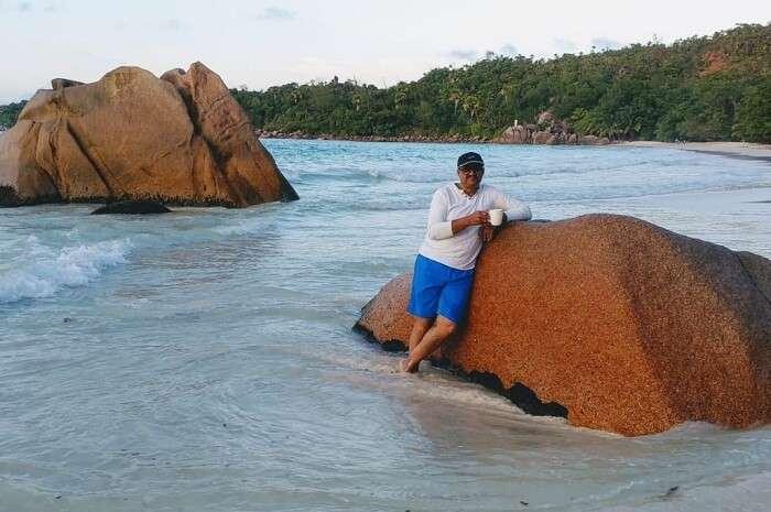 the beautiful Le Chevalier Bay beach