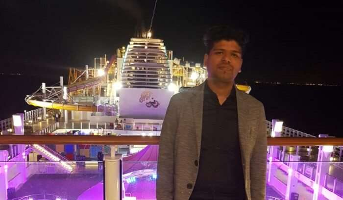 board the cruise