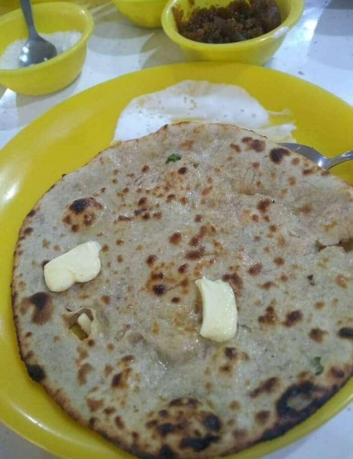 enjoy having the authentic chai parantha