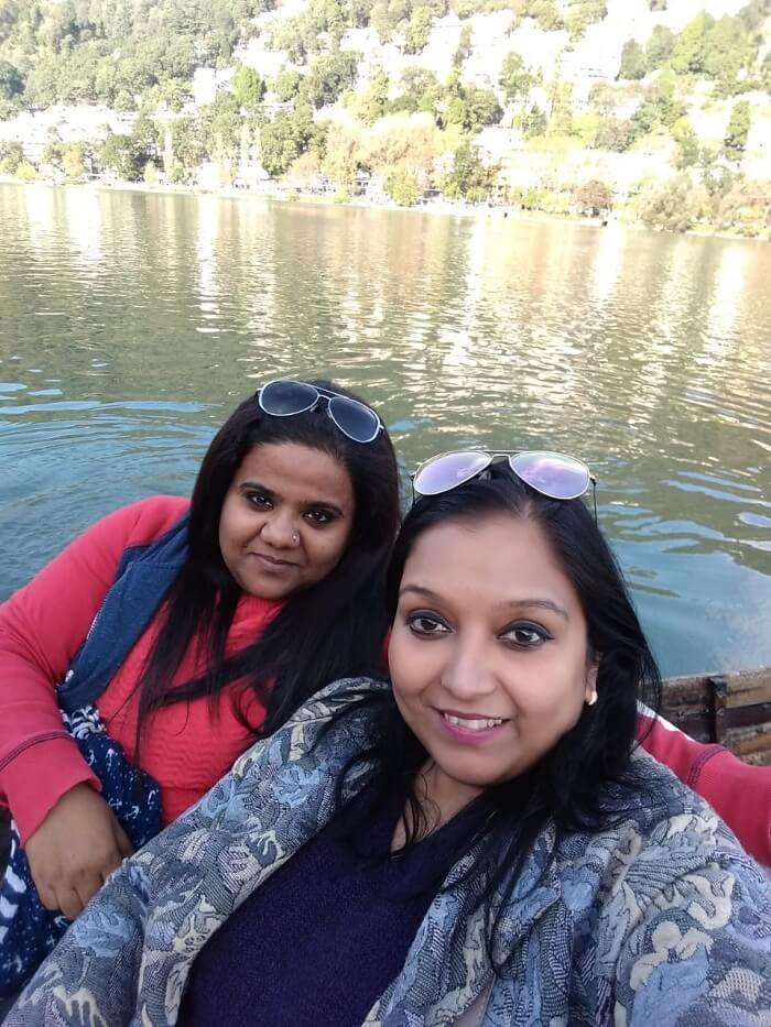 the boat ride of the famous Naini lake