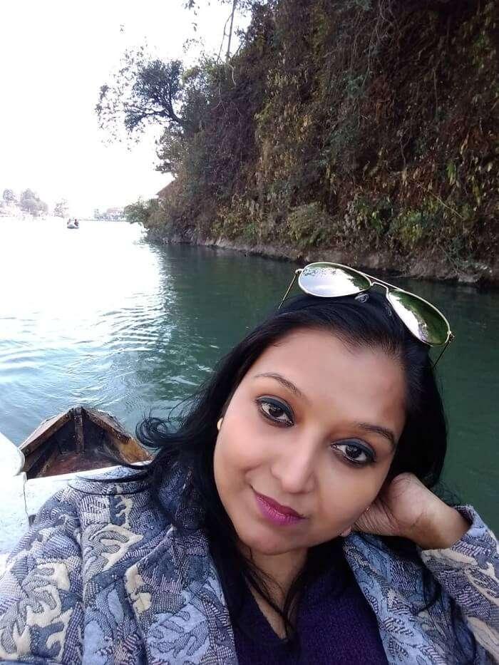 at the famous naini lake