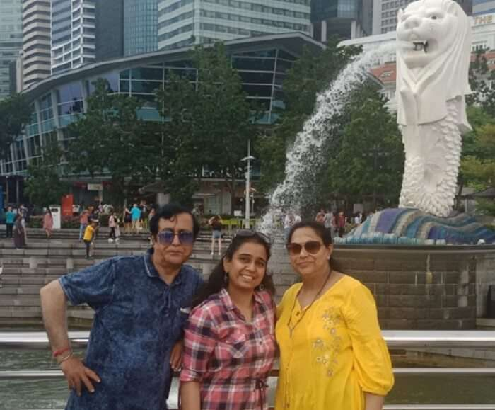 we at the Merlion Park