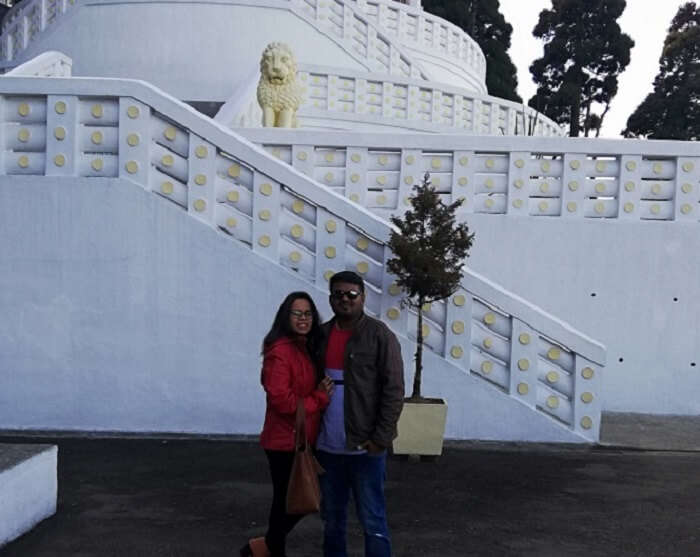 visiting to the temple
