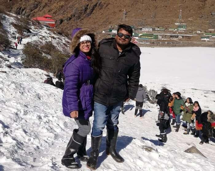 enjoying the Gangtok visit in winter