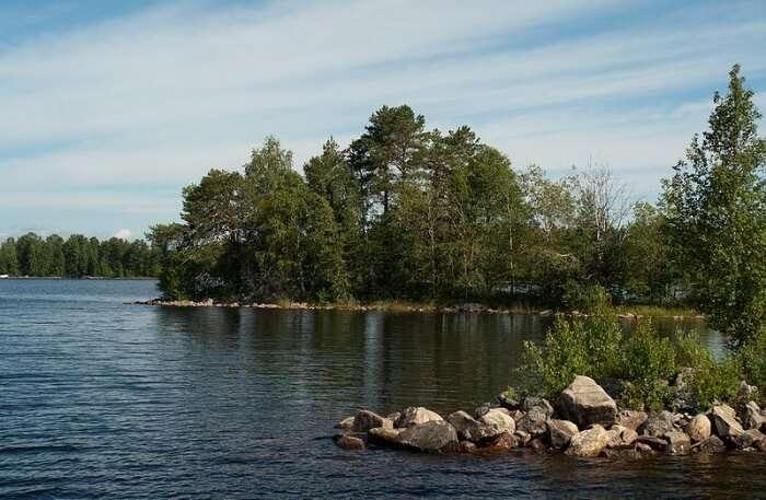 Lake Oulujärvi In Finland