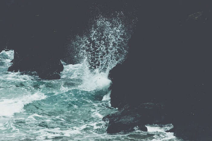 Blue Crashing Waves Water Ocean Sea Nature