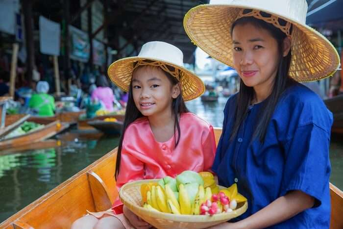 thai family smiling