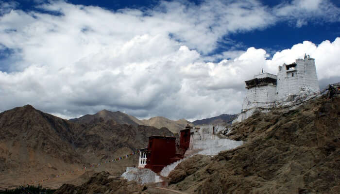 monastery atop the rocky hills