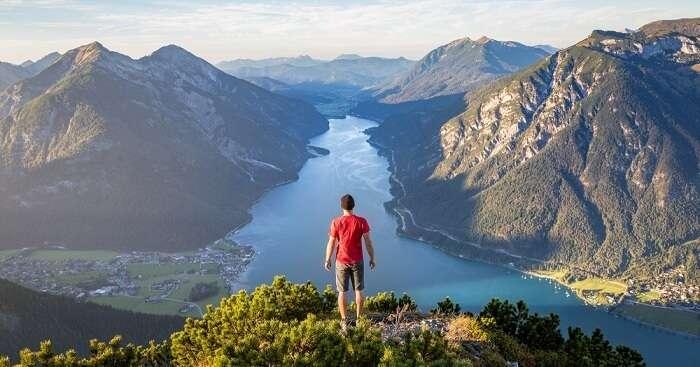 man standing near the mountain in Austria