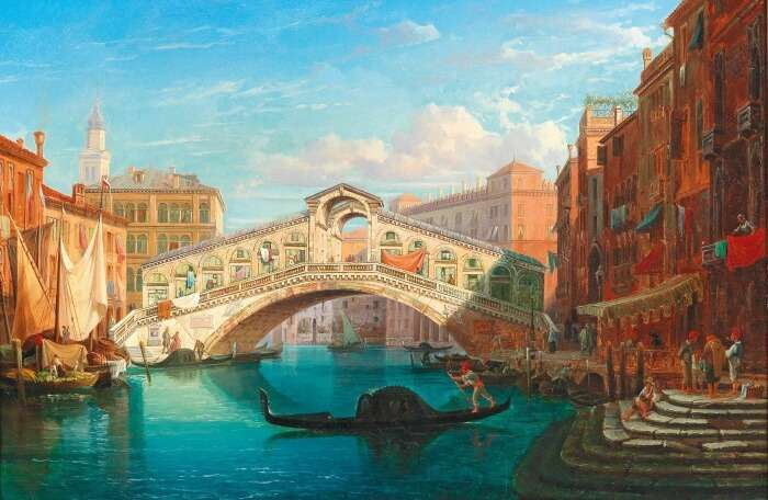 Rialto Bridge Painting