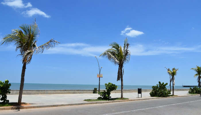 Seafront promenade in Pondicherry