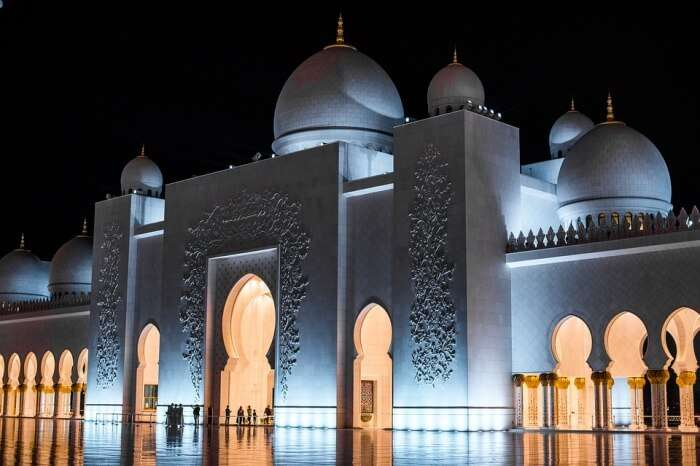 Mosque Night Uae Grand Sheikh Zayed Abu Dhabi