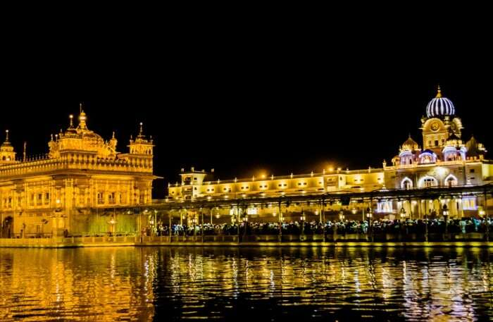 Golden Temple View At night