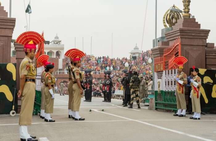 Wagah Border Soldiers View