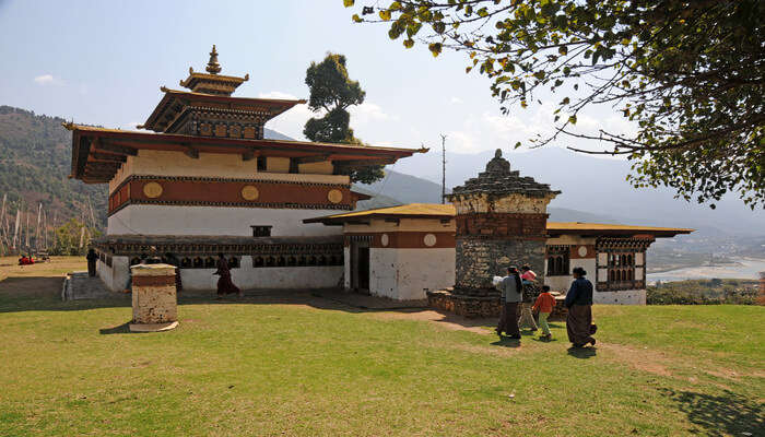 Walk to Chimi Lhakhang Temple