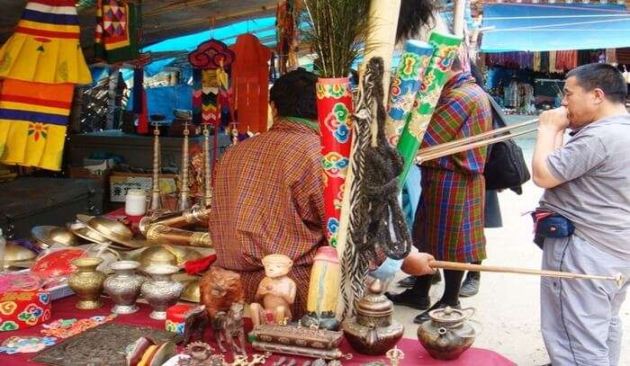 Weekend Market In Thimphu