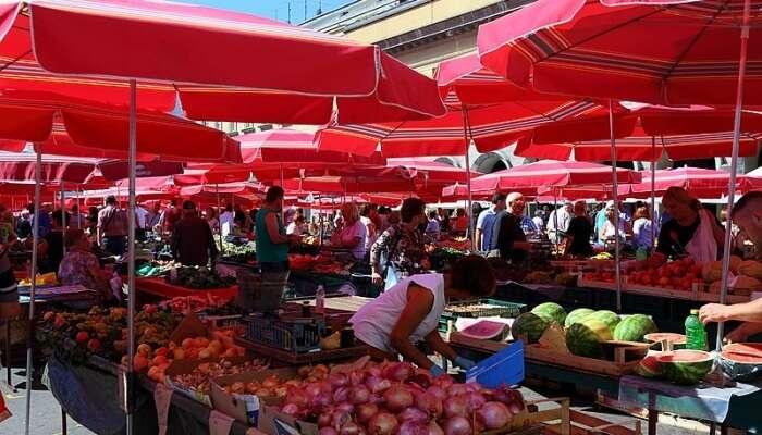 famous Dolac Market