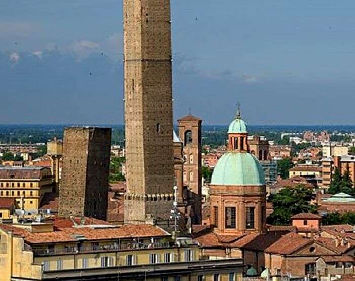 view of bologna's towers
