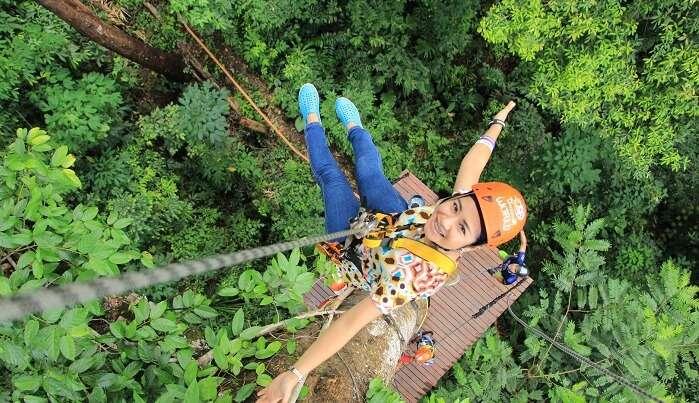 ziplining thailand