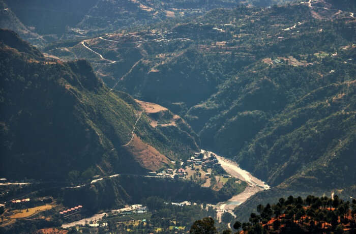 amazing view of the valley