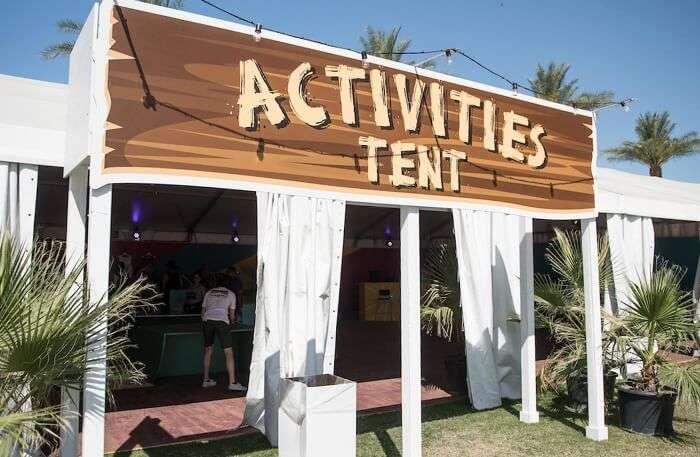 Activities Tent