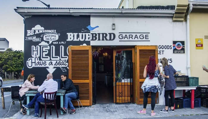 Blue Bird Garage Food and Goods Market in Cape Town