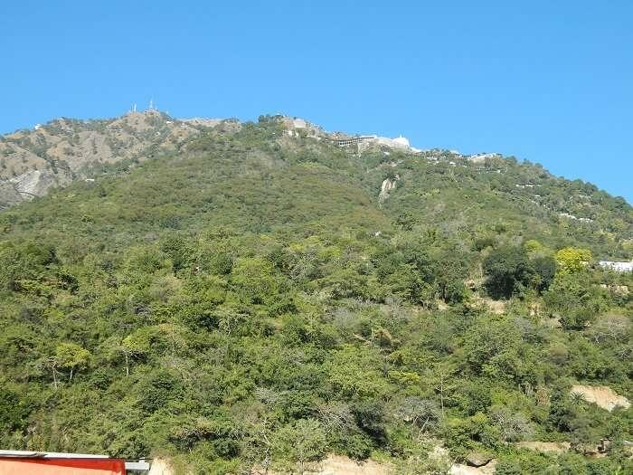 View of Ardhkumari from Katra