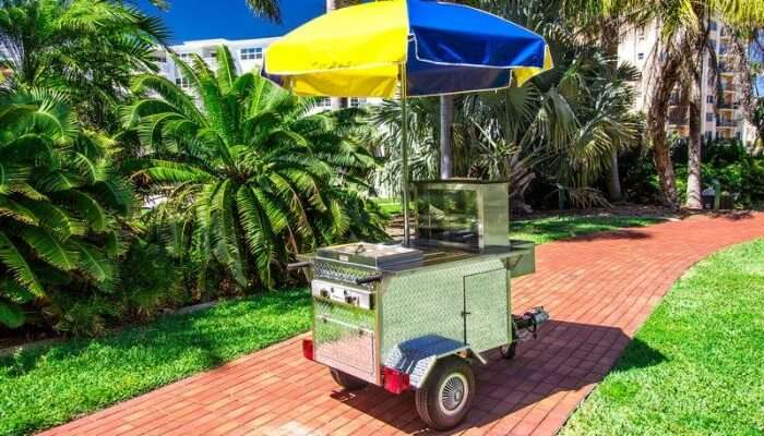 Hot Dogs And Drinks Cart