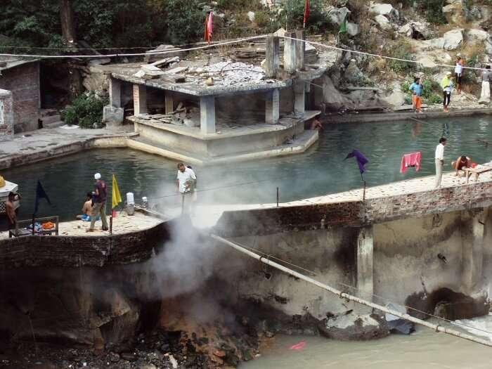 Hot springs at Manikaran Himachal Pradesh